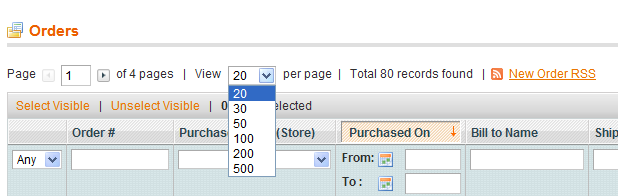 magento set grid per page size